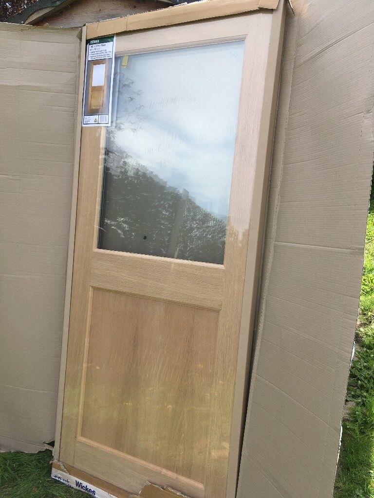 Wickes Exterior Oak Veneer Door New Still In Packaging 1981 X 838