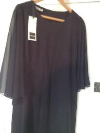 black coctail dress size 48/14
