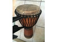 Djembe drum and accessories