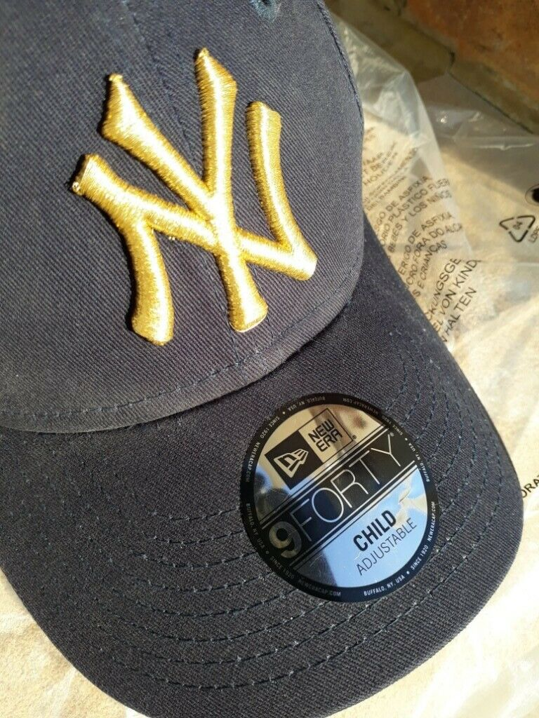 1e40ebab New Era NY 9Forty Baseball Cap Child | *NEW* | *FREE Postage* | Black with  Gold logo | | in Caldicot, Monmouthshire | Gumtree