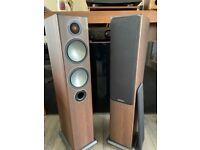 Monitor Audio Bronze 5 Walnut Floor Standing Speakers