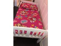 Toddler bed from John Lewis in white