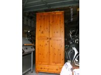 solid pine wardrobes with one draw