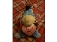 Limited Edition Disney 2007 Eeyore Love Bug Plush