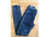 H&M skinny high waisted jeans size 8