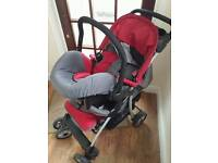 Hauck baby travel syatem. Car seat and bugy. 2 sepate or 2 in 1. Shoppers set. Can deliver to local.