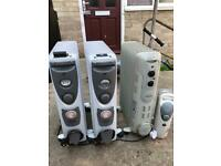 4 Oil Filled Radiators (like new)