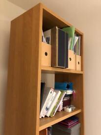 Heavy birch veneer bookcase