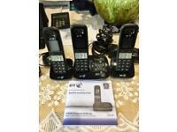 BT bt8500 advanced digital call blocker with answering Machine. Trio of cordless phones