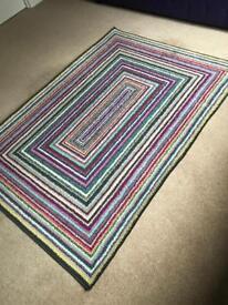 Purple stripe rug