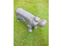 NEW in Resin Hippo Stool Indoor Or Outdoor Use Seat Chair