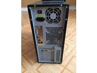 COMPUTER TOWER /DVD RW/KEYBOARD/SPEAKERS/2 WIRELESS USB'S/CARD READER