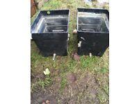 40 Gallon Black Plastic Water Storage Tanks