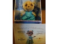 New Boxed with Certificate Limited Edition Disney Frozen Plush Ayana as Elsa Compare the Meerkat