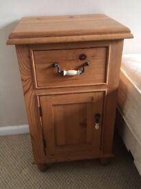 Solid pine bedside table - excellent condition