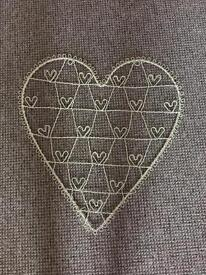 Next cream metal heart