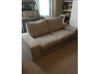 IKEA KIVIK 2 SEAT SOFA IN HILLARED BEIGE-VERY GOOD CONDITION .