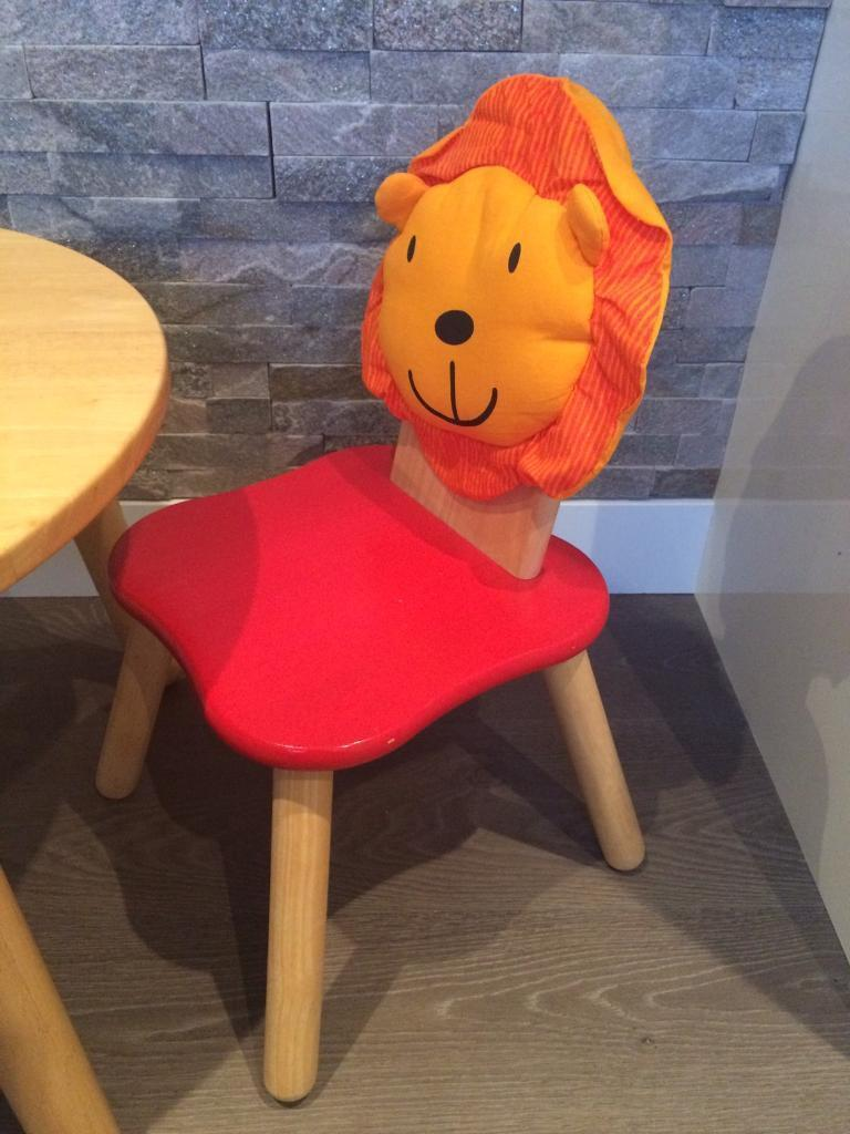 Toddler rubber wood table and 2 chairs John Lewis in Kintore