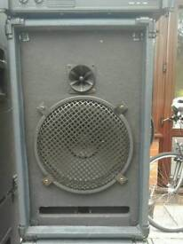 PA speakers & Power Amplifier + Extras