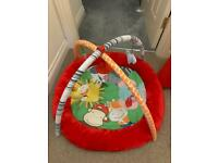 Baby play gym and mat