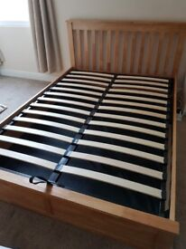 Double Ottoman Bed Frame in Pine