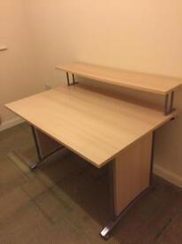 Beech 120cm x 80cm study desk