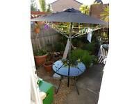 Homebase Andorra Garden chair and table with umbrella set