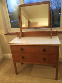 Antique Dressing Table with 2 drawes