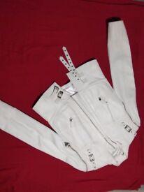 White leather women's jacket