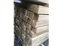 🌞 PRESSURE TREATED WOODEN/ TIMBER POSTS > NEW