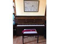 Silent Series Yamaha B1 SG2 Upright Piano in Walnut Oak Satin Finish