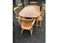 Farmhouse Table with 6 chairs