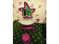 Musical dressing table with matching stool