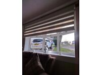 Day and night roller blind for large lounge window