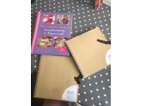 Scrapbooking bundle book and blank project books