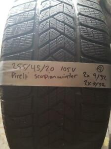 255/45/20 * 4 pneus hiver pirelli scorpion winter