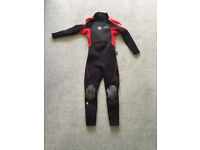 Kid's red/black Circle One summer wetsuit, vgc, age 9-10, £15