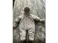 3-6 month fluffy & soft Pram suit