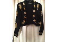 Bolero style black cardigan