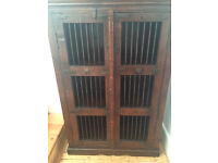 Details about Stunning Teak Indonesian Cabinet Bookcase Pick up London