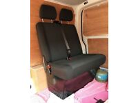 VW T6 T5 front passenger double bench seat in simora fabric
