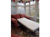 *** FREE!*** Two seater sofa bed with single metal action bed. very comfy. ***FREE!***