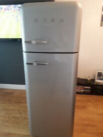Smeg fridge freezer. silver