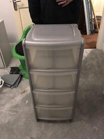 Plastic drawers box
