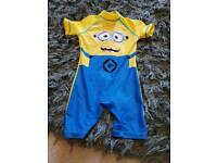 2-3 year minion sun suit