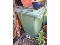 Green wheeled bins x 2