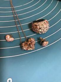 Swarovski pink jewellery set