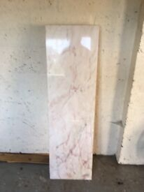 Pink marble hearthstone