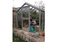 SHED & GREENHOUSE - IN NEED OF MUCH TLC - FREE TO COLLECT