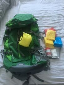 Brand new mountain top travel bag with goodies